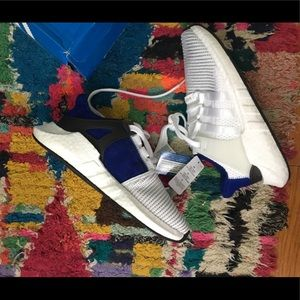 Adidas EQT Support in white and royal